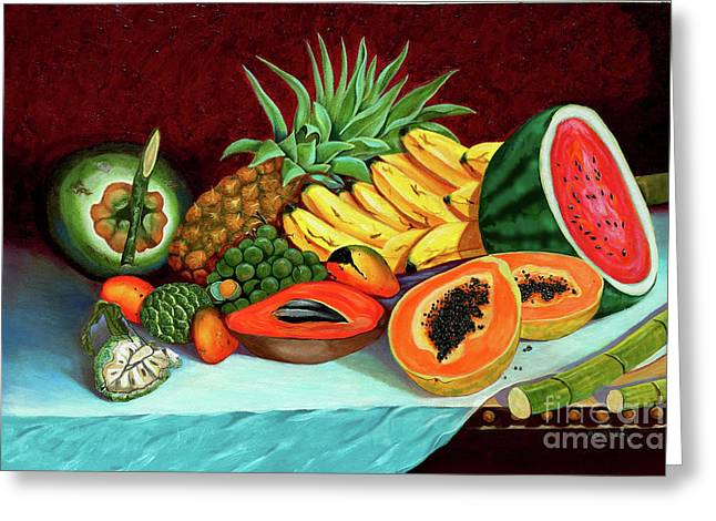 Tropical  Fruits Greeting Card by Jose Manuel Abraham