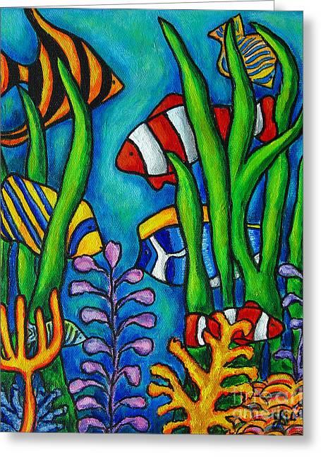 Tropical Gems Greeting Card by Lisa  Lorenz