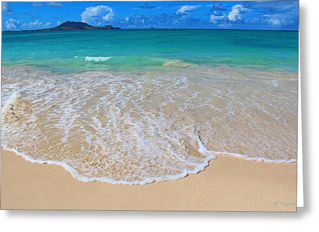 Tropical Hawaiian Shore Greeting Card by Kerri Ligatich