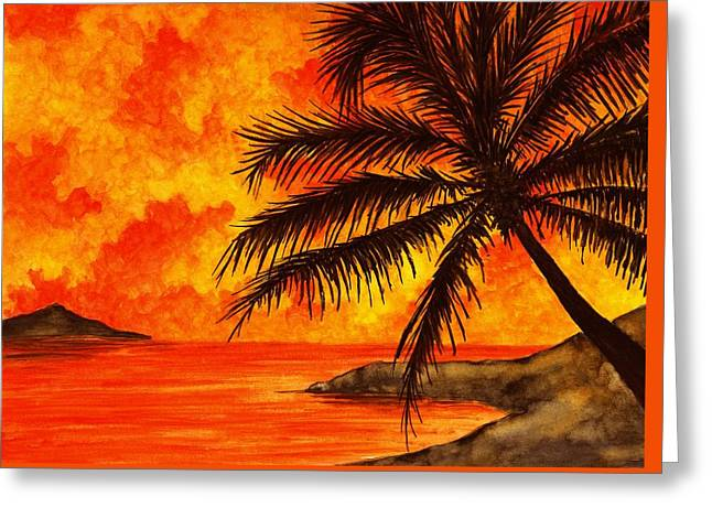 Tropical Heat Greeting Card by Michael Vigliotti