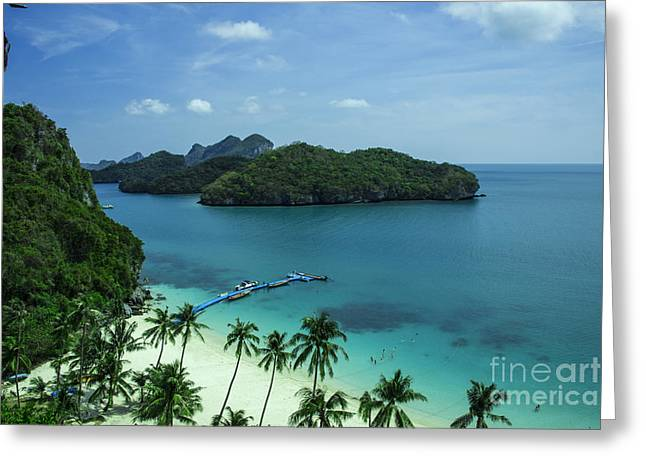 Angthong Greeting Cards - Tropical Island Breeze  Greeting Card by Rob Hawkins