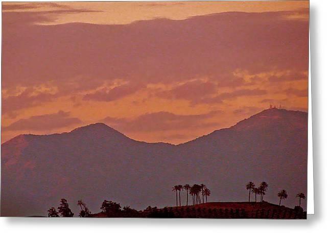 Sweep Of The Land Greeting Cards - Tropical Mountain Range Greeting Card by Debra     Vatalaro