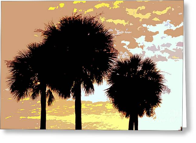 Palm Tree Greeting Cards Greeting Cards - Tropical palms work number four Greeting Card by David Lee Thompson