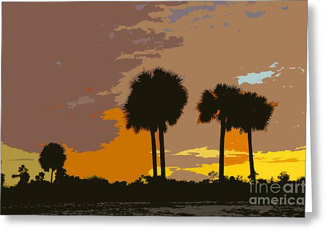 Palm Tree Greeting Cards Greeting Cards - Tropical palms work number three Greeting Card by David Lee Thompson