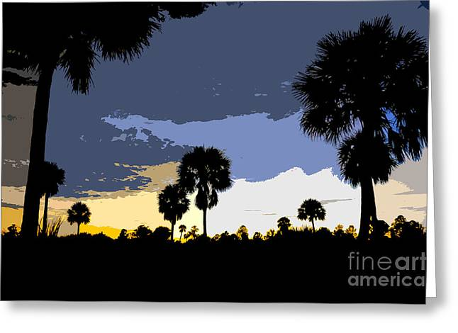 Palm Tree Greeting Cards Greeting Cards - Tropical palms work number two Greeting Card by David Lee Thompson
