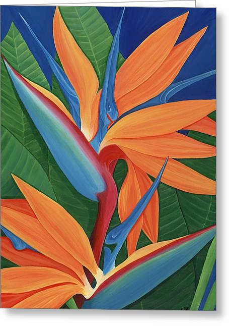 Lisa Bentley Greeting Cards - Tropical Paradise Greeting Card by Lisa Bentley