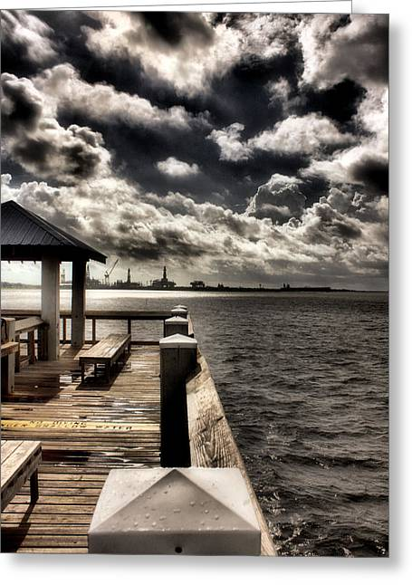 Hdr Photos Greeting Cards - Tropical Pier Greeting Card by Gulf Island Photography and Images