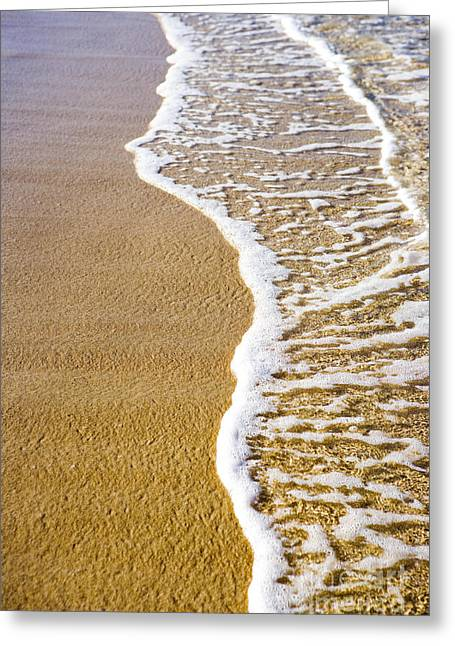 Sand Patterns Greeting Cards - Tropical Sandy Beach Greeting Card by Dana Edmunds - Printscapes