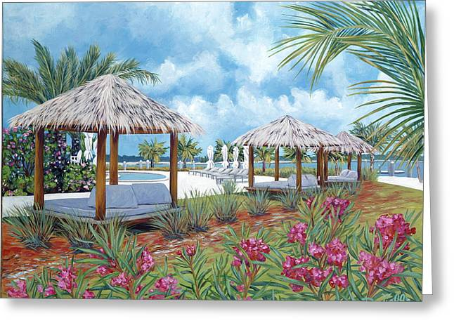 Danielle Perry Greeting Cards - Tropical Shelter Greeting Card by Danielle  Perry