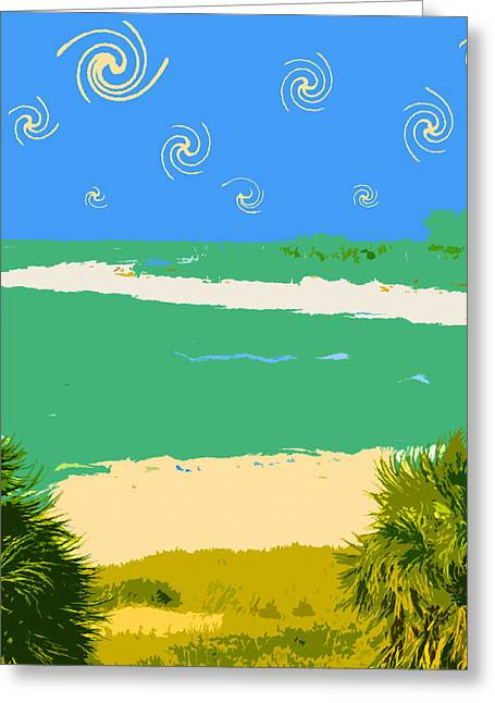 Tropical Oceans Greeting Cards - Tropical sky Greeting Card by David Lee Thompson