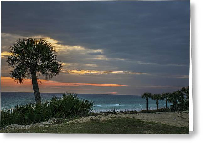 Panama City Beach Greeting Cards - Tropical Sunset Greeting Card by Kevin Ruck