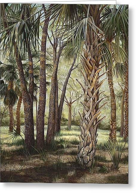 Annajo Vahle Greeting Cards - Tropical Trails End Greeting Card by AnnaJo Vahle