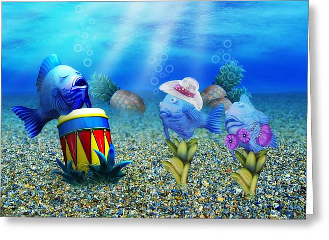 Silly Fish Greeting Cards - Tropical Vacation Under The Sea Greeting Card by Gravityx9  Designs