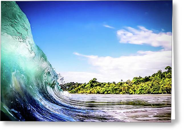 Tropical Wave Greeting Card by Nicklas Gustafsson