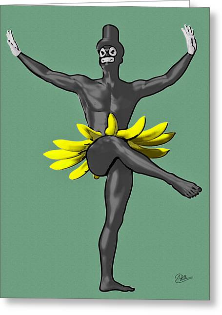 Banana Drawings Greeting Cards - Tropicana By Quim Abella Greeting Card by Joaquin Abella