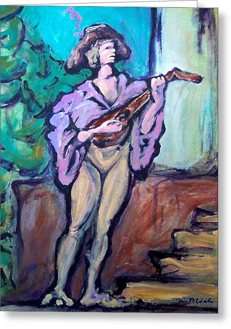 Troubadour Greeting Card by Kevin Middleton