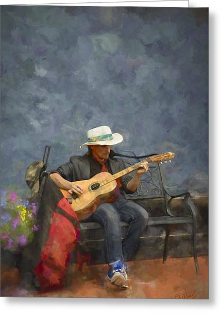 Concept Photographs Greeting Cards - Troubadour - Painting Greeting Card by F Leblanc