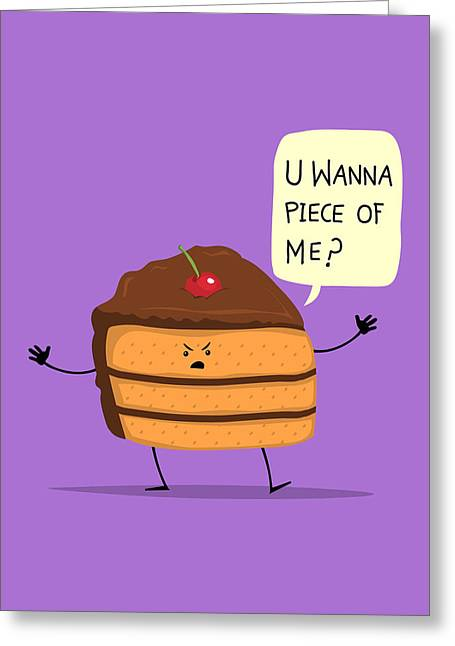 Layer Greeting Cards - Trouble Caker Greeting Card by Ana Villanueva