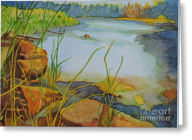 Willow Lake Greeting Cards - Trout Lake Bay on Point Comfort Rd Greeting Card by Lise PICHE