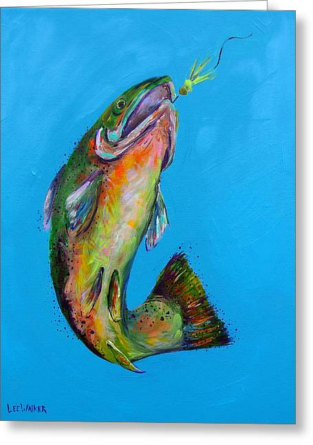 Rainbow Trout Greeting Cards - Trout Greeting Card by Lee Walker