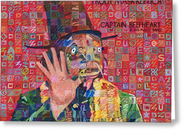 Randy Greeting Cards - Trout Mask Replica Greeting Card by Randal Huiskens