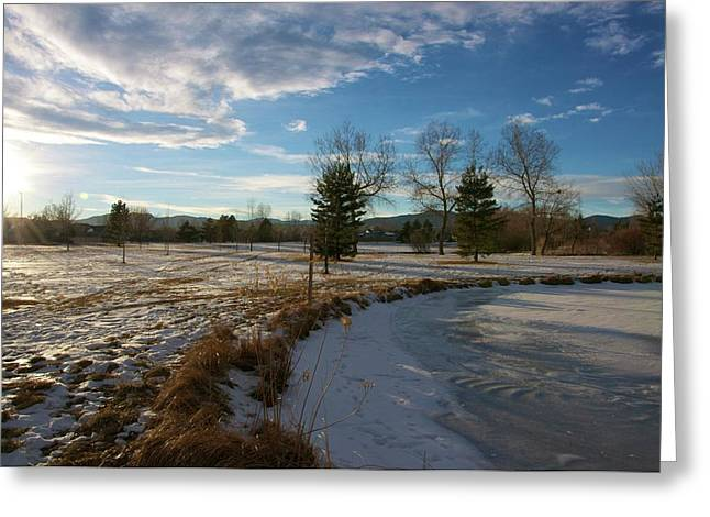 Troutman Park Greeting Card by Christopher Wood