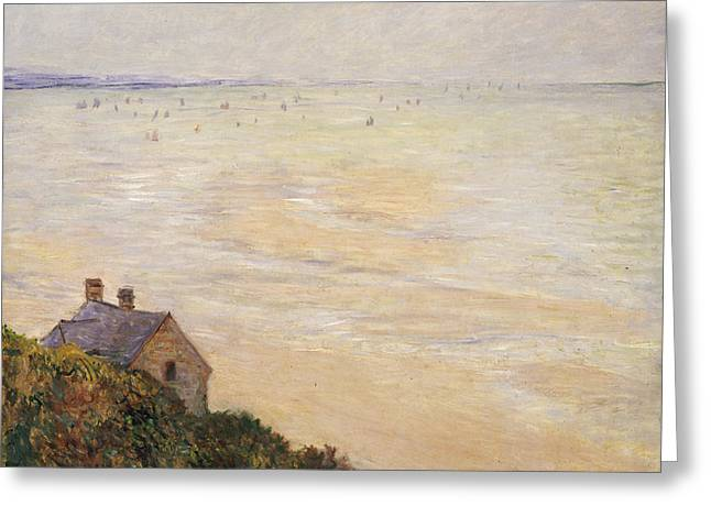 Shoreline Greeting Cards - Trouville at Low Tide Greeting Card by Claude Monet