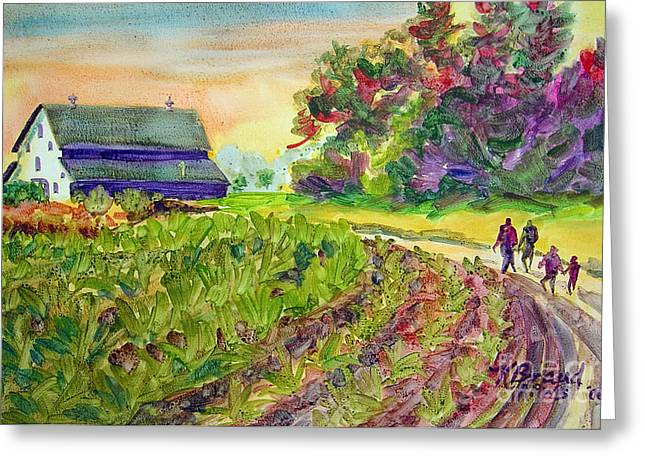 Old Country Roads Mixed Media Greeting Cards - Troys Memories Greeting Card by Kathy Braud