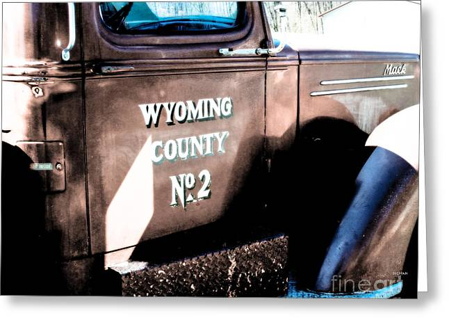 Old Trucks Digital Greeting Cards - Truck from Wyoming  Greeting Card by Steven  Digman