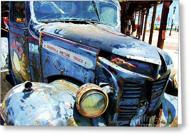 Old Relics Greeting Cards - Truckin Greeting Card by Debbi Granruth