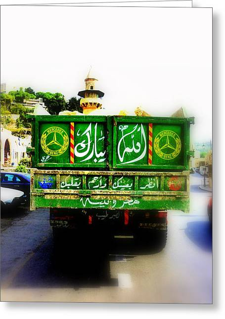 Trucking Across Lebanon Greeting Card by Funkpix Photo Hunter