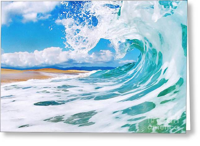 Shorebreak Greeting Cards - True Blue Greeting Card by Paul Topp