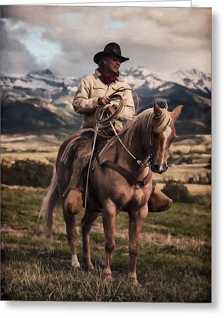 Wife Greeting Cards - True Grit Greeting Card by Ken Smith
