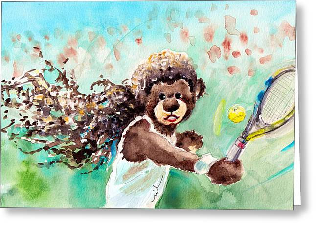 Truffle Mcfurry Had A Dream Greeting Card by Miki De Goodaboom