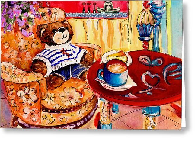 Truffle Mcfurry In Cala Ratjada Greeting Card by Miki De Goodaboom