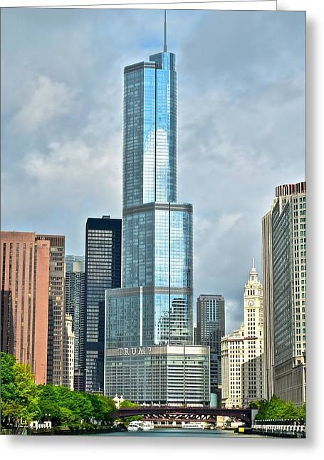 Trump Tower Greeting Card by Frozen in Time Fine Art Photography