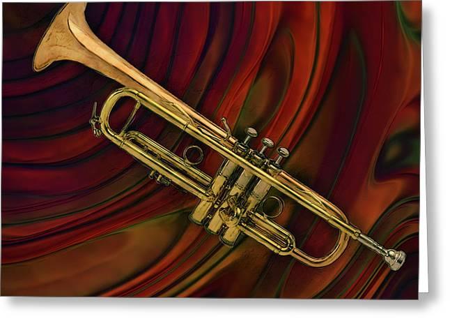 Trumpet 2 Greeting Card by Jack Zulli