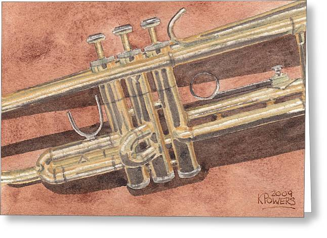 Trumpet Greeting Card by Ken Powers