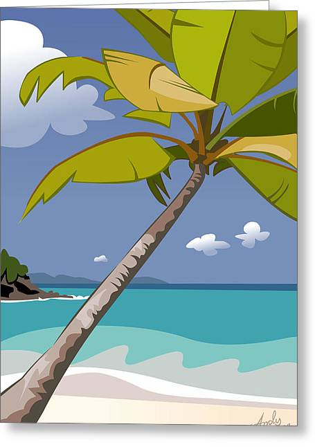 Snorkel Greeting Cards - Trunk Bay Greeting Card by Andy Bauer