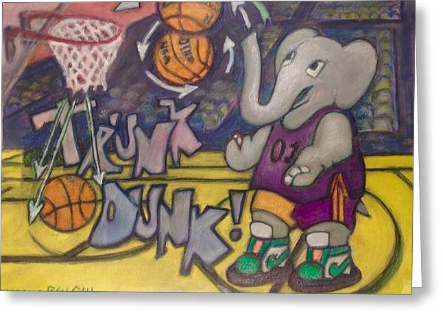 Trunk Dunk Greeting Card by Bev Gill
