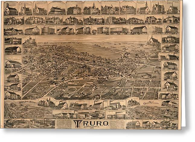 Truro Nova Scotia 1889 Greeting Card by Mountain Dreams