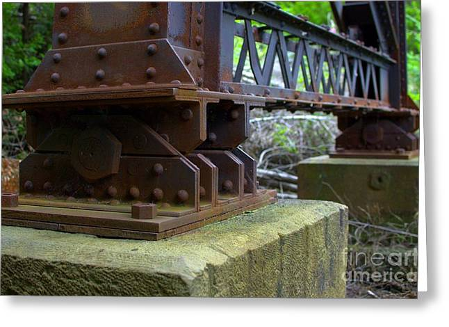 Trestle Greeting Cards - Trussed Trestle Greeting Card by The Stone Age