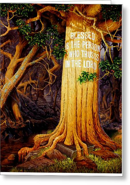 Trust In The Lord Greeting Card by Graham Braddock