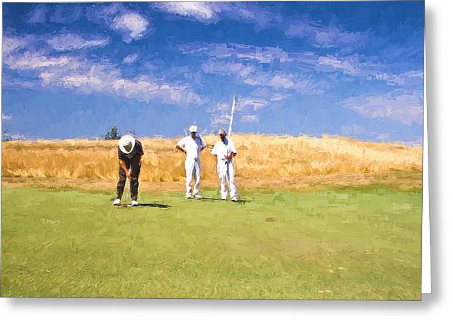 Wisconsin Golf Greeting Cards - Trust the Line Greeting Card by Scott Pellegrin