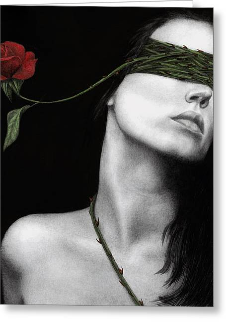 Surreal Portrait Greeting Cards - Truth of Beauty Greeting Card by Pat Erickson