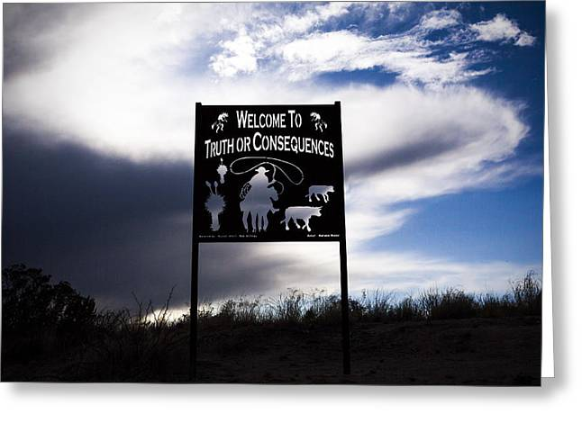 Consequences Greeting Cards - Truth or Consequences Greeting Card by Janh Hanh