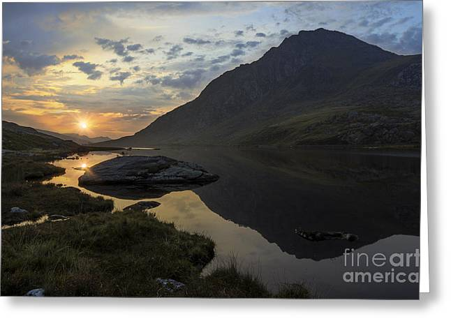 Wales Framed Prints Greeting Cards - Tryfan Sunrise Greeting Card by Ian Mitchell