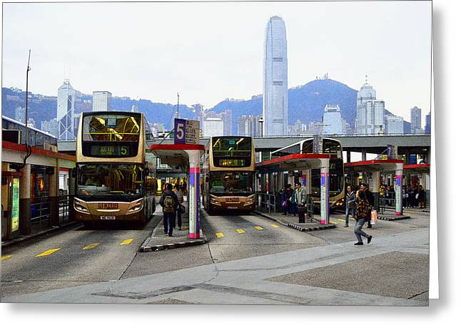 Sha Greeting Cards - TST Bus Terminal Greeting Card by Manson Lee