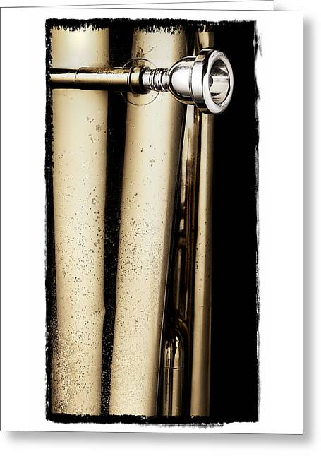 Tuba Mouthpiece Two Greeting Card by Patrick Chuprina