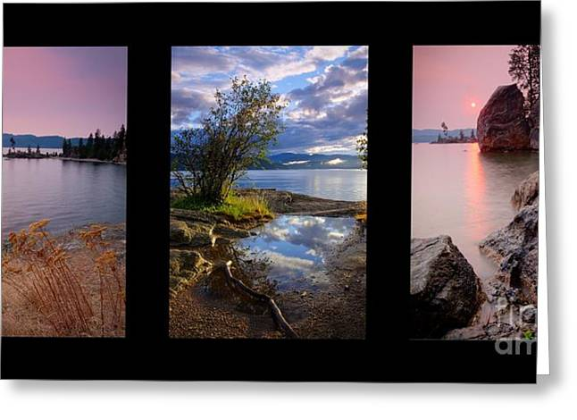 Smoky Skies Greeting Cards - Tubbs Hill Trio Greeting Card by Idaho Scenic Images Linda Lantzy